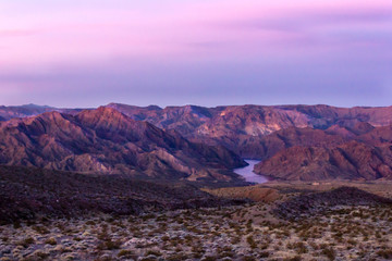 desert sunset red landscape Red Rock Canyon National Conservation Area Nevada's Mojave