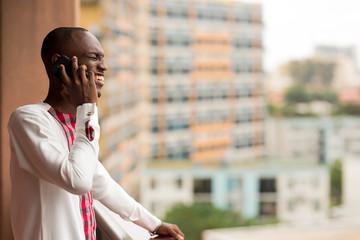 Man having a phone conversation