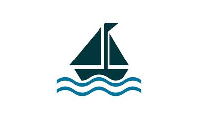 sailing ship vector logo
