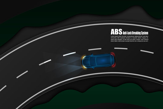 ABS Anti Lock Braking System an active vehicle safety feature designed to help vehicles wheel from locking during brake