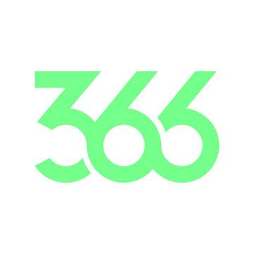 366 days leap year logo design