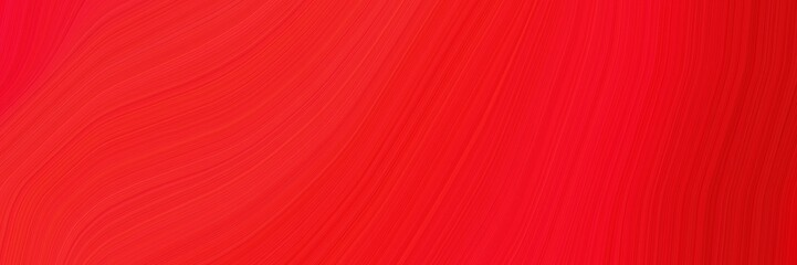 abstract modern horizontal header with crimson, strong red and red colors. elegant curved lines with fluid flowing waves and curves Fototapete