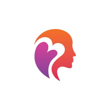 mental health logo design vector