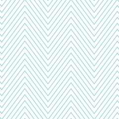 Wall Mural - Tile chevron pattern with pastel blue and white zig zag background