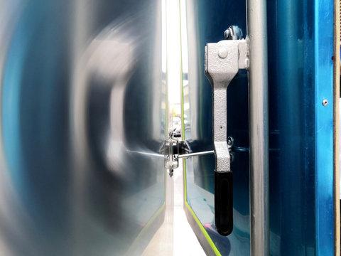 The handle lock car doors back door for pickup.The lock cabinet door for pickup truck.Safety Concept.
