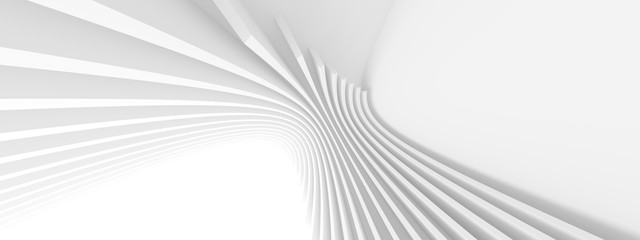 Abstract Architecture Background. Minimal Graphic Design. White Geometric Wallpaper Fotomurales