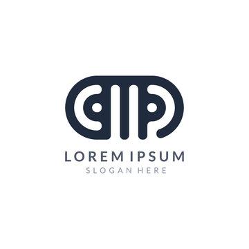 CMP letter company logo or AMP letter