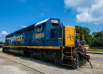 Blue CSX Locomotive