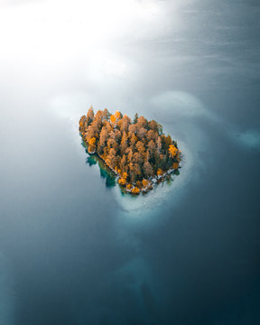 Forest Island From Above