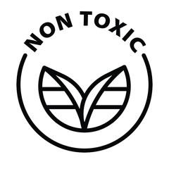 Obraz Non toxic black outline icon - fototapety do salonu