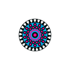Aboriginal art dots painting icon logo design