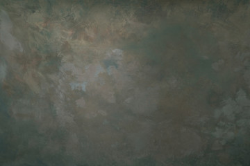 Photo sur Plexiglas Retro Dark olive coloured artistic canvas backdrop with stains. Abstract vintage texture.