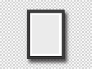 Black wall picture or photograph frame mock up