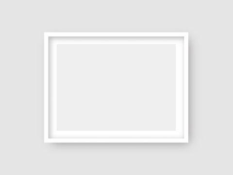 Rectangular wall picture ot photo frame mockup