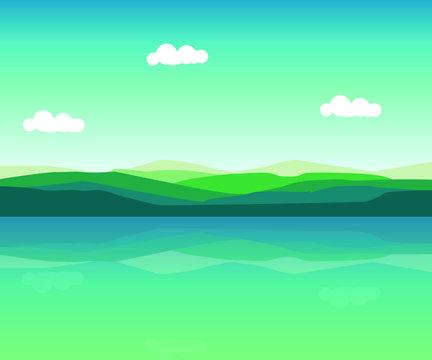 Lake View Landscape art