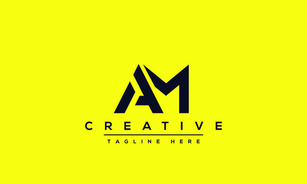 AM Letter Logo Design. Creative Modern A M Letters icon vector Illustration.
