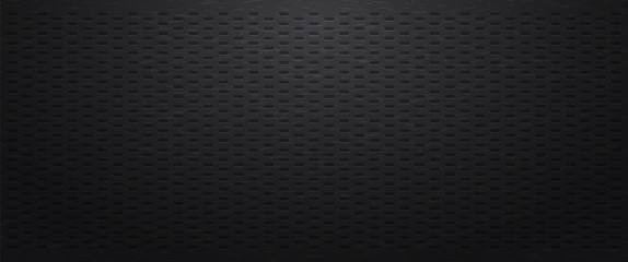 Fototapete - Black perforated background with oval figure.