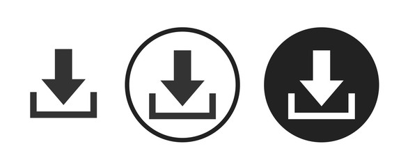Download icon . web icon set .vector illustration