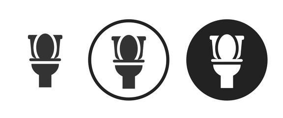 Flush toilet icon . web icon set .vector illustration