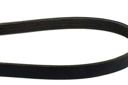 Close up V-Ribbed Belts isolated on white background