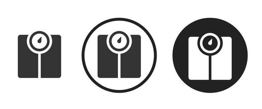 Weight machine icon . web icon set .vector illustration