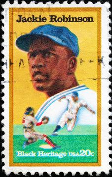 Black heritage, Jackie Robinson on american stamp