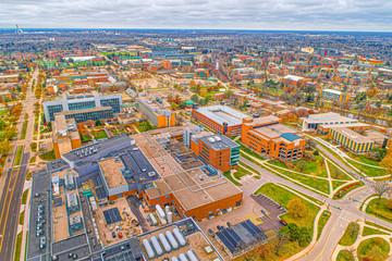 Michigan State University Campus Fall Views. Beautiful Architecture