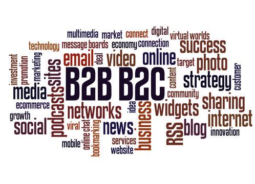 B2B and B2C word cloud concept