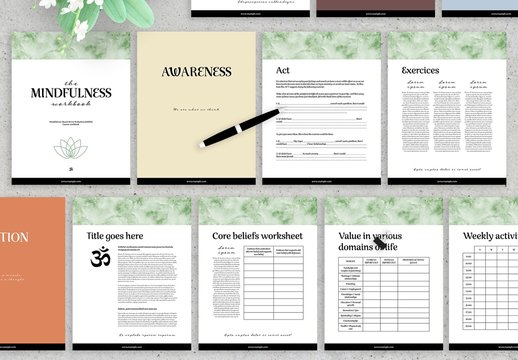 Mindfulness Workbook Layout