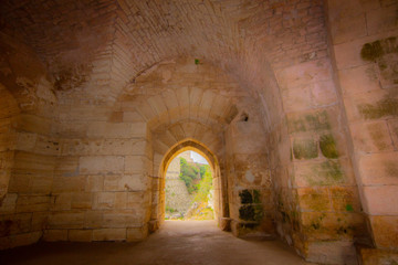 Fototapeta Krak (Crac) des Chevaliers, also called (Castle of the Kurds), and formerly Crac de l'Ospital, is a Crusader castle in Syria and one of the most important preserved medieval castles in the world. obraz