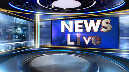 News 3D rendering background is perfect for any type of news or information presentation. The background features a stylish and clean layout  Wall mural