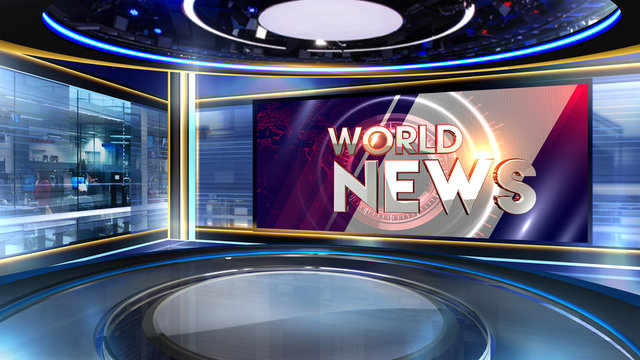 News 3D rendering background is perfect for any type of news or information presentation. The background features a stylish and clean layout