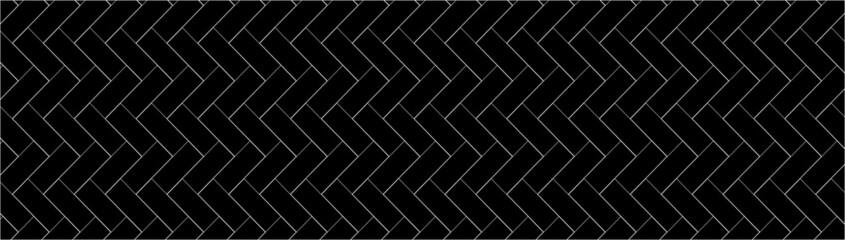 Obraz Geometric texture, repeating linear abstract pattern Thin black line vector pattern.Diagonally laid bricks Scandinavian style brick background for kitchen splash back Herringbone pattern. - fototapety do salonu