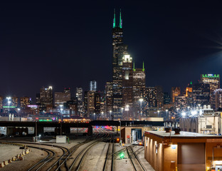 Fotomurales - Chicago city night