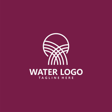 water logo icon vector isolated