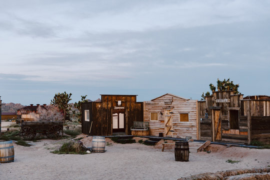 old western town in the desert