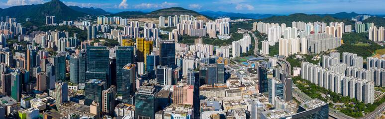 Poster de jardin Hong-Kong Hong Kong skyline