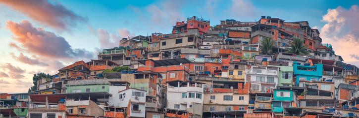 Foto auf Gartenposter Rio de Janeiro Rio de Janeiro downtown and favela