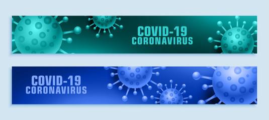 coronavirus pandemic covid-19 outbreak wide banner set Fototapete