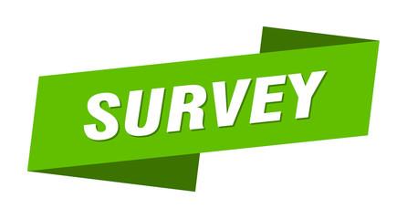 survey banner template. survey ribbon label sign