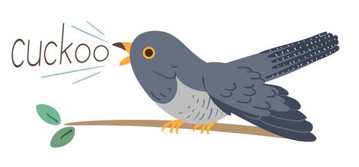Cuckoo Bird Onomatopoeia Sound Cuckoo Illustration Fototapete
