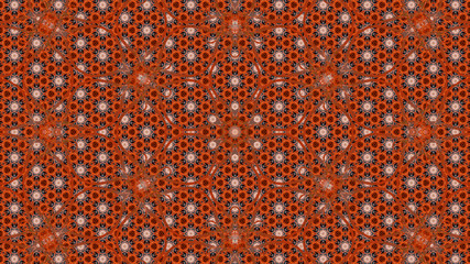 Fractal kaleidoscopic background. Geometric folklore ornament. Tribal ethnic texture Wall mural