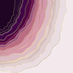 Mineral. Vector illustration. Rose Gold Marble