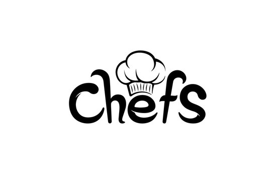 Creative Chef Hat Symbol Text Font Letter logo Symbol Design Vector Illustration