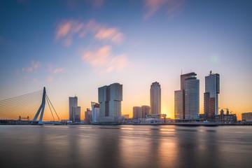Wall Mural - Rotterdam, Netherlands Skyline