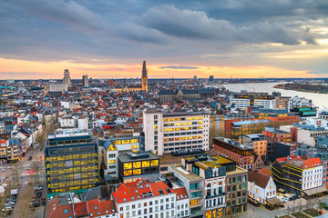Fotomurales - Antwerp, Belgium Cityscape