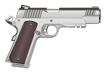 1911 pistol isolated on white vector