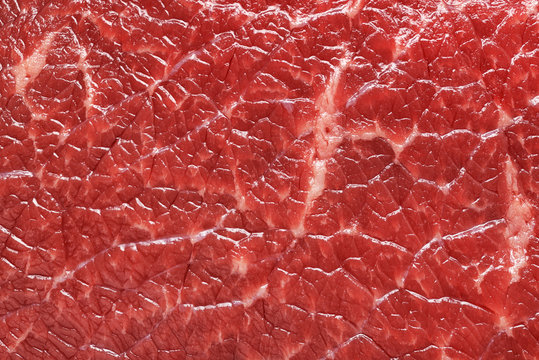 Red beef meat macro texture or background