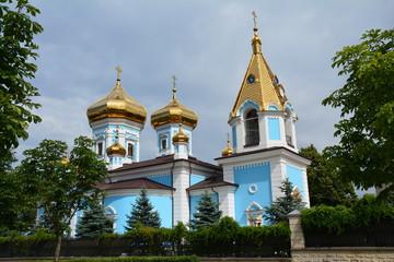 Stores à enrouleur Europe de l Est Eglise Orthodoxe bleue Chisinau Moldavie