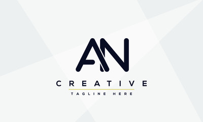 AN Letter Logo Design. Creative Modern A N Letters icon vector Illustration.